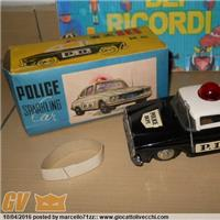 POLICE SPARKLING CAR FRICTION MF 900 TIN TOY GIOCATTOLO DI LATTA