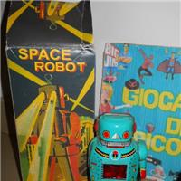 SPACE ROBOT TIN TOY NON VINTAGE MANCANTE DI BRACCIO DESTRO MARCA PROTOCOL VINTAGE NOT MISSING ARM RIGHT MARK PROTOCOL