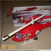 ELICOTTERO POMPIERI FIREFIGHTERSHELICOPTER HELICOPTERE POMPIERS BATTERY OPERATED ART.319 ART.334 MARCA BRAND: REEL I-V F E Q MINISTERO DELL`INTERNO PR