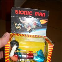 BIONIC MAN SUPERMAN CAR TOY  MADE IN HONG KONG TOYS VINTAGE