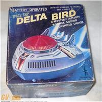 SPACE SHIP DELTA BIRD...astronave a batterie...anni 70..come da foto