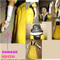 SNOW WHITE BIANCANEVE WALT DISNEY PRODUCTION LEDRAPLASTIC RUBBER TOYS GIOCATTOLO TOY PUPAZZO IN GOMMA POUET RUBBER TOY VINYL TOY VINTAGE SQUEAK TOY ro