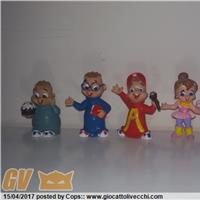 Serie completa PVC figure Alvin & the Chipmunks 1986 Comics Spain - RARE