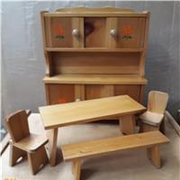 WOODEN DOLL HOUSE FURNITURE SET (ANNI `80)