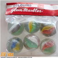 BIGLIE COLOURED GLASS MARBLES - ANNI `70-`80