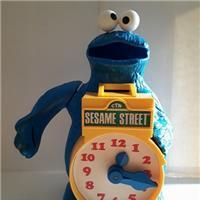 COOKIE MONSTER (SESAME STREET) PLAY CLOCK & BANK (KTC 1977)