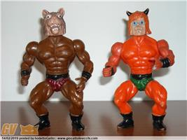 2 Motu Bootleg Demone Wolf Muscle Warriors Lupo Galaxy Fighter