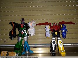 MEGAZORD JUNGLE FURY BANDAI GOSEIGER SENTAI POWER RANGERS - ROBOT TRASFORMABILI LOTTO
