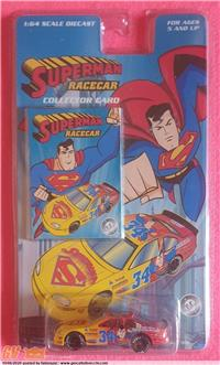 SUPERMAN RACECAR COLLECTOR CARD DC COMICS