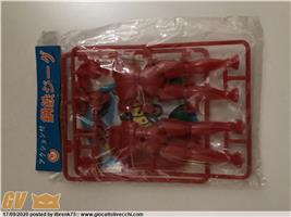 JEEG PLASTIC MODEL RED UNOPENED ARTICLE. VINTAGE JAPAN DEAD STOCK.