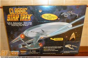 STAR TREK U.S.S. ENTERPRISE NCC 1701 DELUXE ELECTRONIC LIGHTS & SOUNDS BY PLAYMATES USA 1995 MISB FACTORY SAMPLE